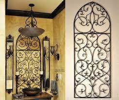 Tuscan Wall Sconces Clock Decoration Kitchen Italian Home Decor Art Wrought Iron