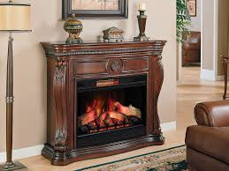Decor Flame Infrared Electric Stove Manual by Lexington 33 In Infrared Empire Cherry Electric Fireplace Cabinet