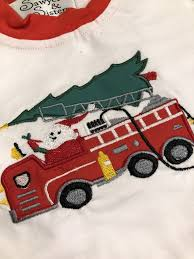 Fire Truck Santa Pajamas – Sawyer And Sisters Smocked Clothing And More