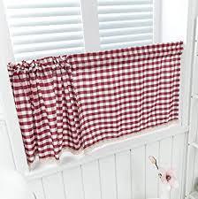 dreamskull kurzstores gardinen küche kurz fenster vorhänge vorhang küchengardine scheibengardine gardinenschals blickdicht vintage bistrogardine