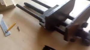 vintage bench vise quick adjust quick release by the columbian