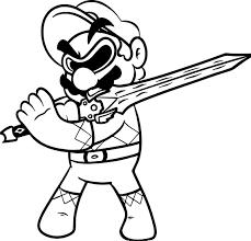 Power Ranger Super Mario Coloring Page