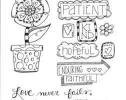 Bible Journaling Coloring Page Love Never Fails