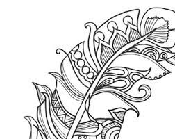 10 Fun And Funky Feather ColoringPages Original Art Coloring Book For Adults Therapy