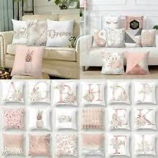 details zu gold rosa kissenhüllen dekokissen kissenbezug kissenhülle couchkissen deko