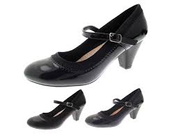 womens mary jane comfort shoes low heel casual work court shoes
