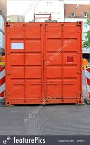 100 Cargo Container Buildings Warehouse Orange Stock Picture I3477413