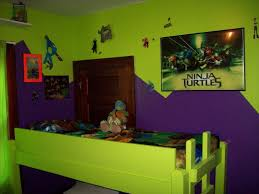 bedroom cute ninja turtle bedding with bed cover and side l