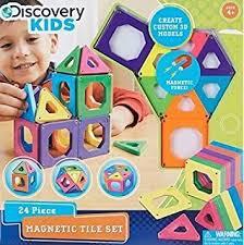 amazon com discovery kids best premium magnetic blocks magnetic