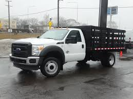 100 Regular Cab Truck Used 2012 Ford Super Duty F550 W12 Stake For Sale Lyons IL VIN
