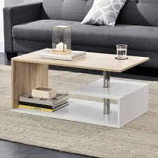 en casa couchtisch haarlem wohnzimmertisch mit ablagefach 90x50x41cm weiß holzfarben