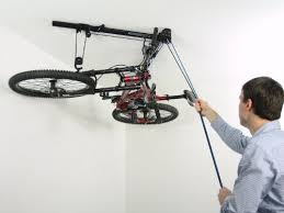 floaterhoist ba1 horizontal bike lift hoist garage bicycle storage