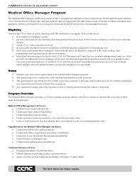 Healthcare Office Manager Resume Program Certificate Examples Indclude Overview Allegheny County Medical