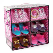 Amazon Princess Dress Up Play Shoe And Jewelry Boutique Includes 4 Pairs Of Shoes Fashion Accessories Toys Games