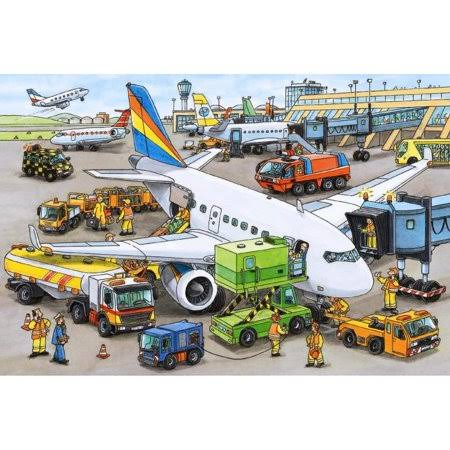 Ravensburger Busy Airport Jigsaw Puzzle - 35 Piece