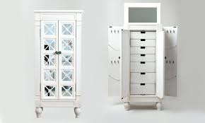 Pier One Dressing Mirror by Armoire Mirrored Jewelry Armoires White Black Oval Wardrobe