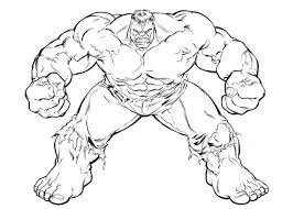 Pictures Printable Hulk Coloring Pages 13 For Line Drawings With