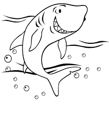 Shark Coloring Pages Cute