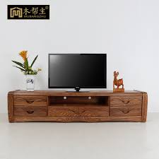 Solid Wood Tv Cabinet Modern Chinese Short Lockers Living