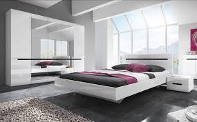 schlafzimmer set 2498aj21 komplett kleiderschrank doppelbett weiß front mdf hochglanz