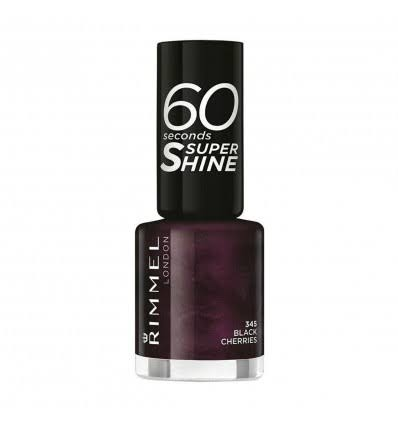 Rimmel London 60 Seconds Super Shine Nail Polish - 345 Black Cherries, 8ml