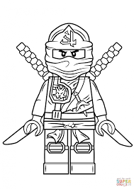 Download Coloring Pages Ninjago Lego Green Ninja Page Free Printable