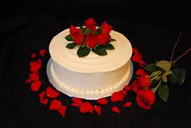 Red Rose Anniversary Cake