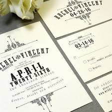 French Victorian Wedding Invitations Ivory And Black Pocket Invitation Vintage Suite Rustic Invite