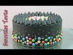smarties torte backen schwarze torte ohne fondant