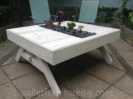 11 amazing recycled pallet tables with planters pallets