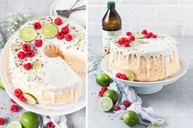 luftiger chiffon cake mit limette himbeeren