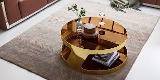 couchtisch kairo chrom gold rund glas edelstahlgestell