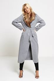 womens fur collar duster coat divadames
