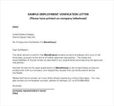 Employment Verification Letter for Australian Visa Application