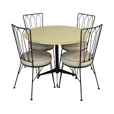 Maurizio Tempestini For Salterini 1950's Wrought Iron Round Table + 4  Chairs Dining Set Portrayal Of Wrought Iron Kitchen Table Ideas Glass Top Ding With Base Room Classic Chairs Tulip Ashley Dinette Set Zef Jam Outdoor Patio Fniture Black Metal Nz Kmart And Room Dazzling Round Tables For Sale Your Aspen Tree Cafe And Chic 3 Piece Bistro Sets Indoor Compact 2 Folding Chair W Back Wrought Iron Dancing Girls Crafts Google Search