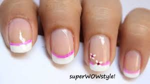 Cute French Tip Designs - How You Can Do It At Home. Pictures ... Nail Art For Beginners 20 No Tools Valentines Day French How To Do French Manicure On Short Nails Image Manicure Simple Nail Designs For Anytime Ideas Gel Designs Short Nails Incredible How Best 25 Manicures Ideas Pinterest My Summer Beachy Pink And White With A Polish At Home Tutorial Youtube Tip Easy Images Design Cute Double To Get Popxo