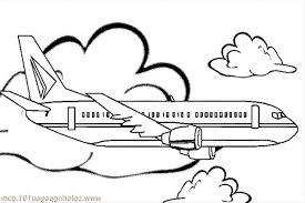 Airplane Jumbo Jet Simple Coloring For Kids