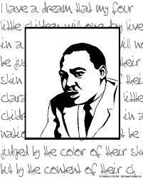 Martin Luther King Jr Day Coloring Pictures