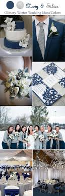 Navy Blue And Silver Grey Wedding Color Inspiration