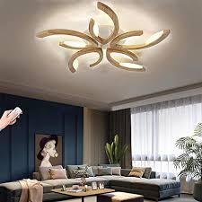 holz led deckenleuchte wohnzimmer deckenle mit dimmbar und blume form design le decke leuchte schlafzimmer inkl fernbedienung esszimmer licht