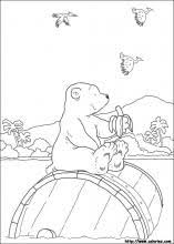 Little Polar Bear Coloring Pages On Book