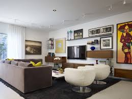 chicago floating tv living room contemporary with flush mount
