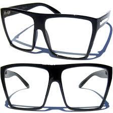 transparent frame large oversize big s glasses clear