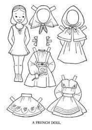 Printable Cutout Paper Doll Sheet Children Of The World