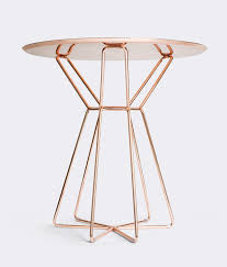 100 Lignet Rose FALDA SIDE TABLE For Ligne T Studio Kowalewski