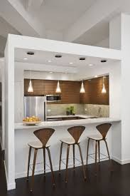 Kitchen Cabinets White And Brown Rectangle Modern Wooden Apartment Cabinet Ideas Stained For