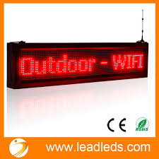 Leadleds LED Outdoor Scrolling Display Boards Programmable By Android WIFI Used For Business