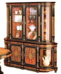 casa padrino luxus barock boulle esszimmerschrank schwarz rot gold 228 x 49 x h 237 cm handgefertigter massivholz schrank barock esszimmer