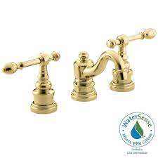 Unlacquered Brass Bathroom Faucet by Kingston Brass 8 In Widespread 2 Handle High Arc Bridge Bathroom