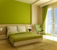 Two Tone Walls With Chair Rail by Green Bedrooms Color Schemes Tone Painted Room Parioned With Lime